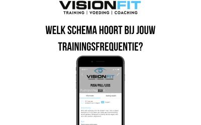 Welk schema hoort bij jouw trainingsfrequentie?