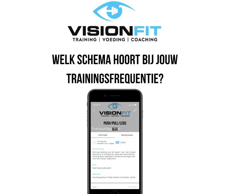 VisionFit app trainingsschema
